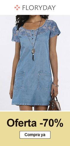 Demin Dress, Blouse Dress, Casual Dresses, Casual Outfits, Fashion Dresses, Summer Dresses, Denim Kurti, Sewing Blouses, Dress Patterns