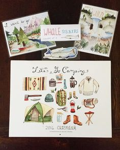 Recently I reached a milestone on @etsy! I got my 5,000th sale! I'm so grateful for all the support I've had through the last few years that I thought I'd do another giveaway! I'll be sending one of you a camping calendar, some whale stickers and a couple of cards! All you need to do is follow @little_canoe and my other account @brooke_weeber and leave a comment here mentioning your favorite travel buddy and why!  I'll choose a winner tomorrow. Good luck and thanks again! ❤️