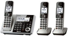 PANASONIC KX-TGF373S Link2Cell Bluetooth Cordless, ITAD, TCID, 3 HS #Panasonic