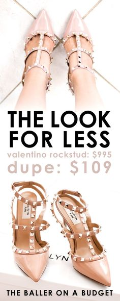 f53653aec01 Valentino s Rockstud is a gorgeous heel priced at  995. We found the  perfect genuine leather