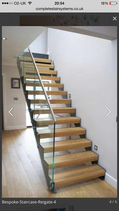 Steel Structure Modern Stair Gallery with solid timber treads and glass balustrade. A complete view of our completed projects with links to project pages. Bespoke Staircases, Stair Gallery, Floating Staircase, Glass Balustrade, Modern Stairs, Childproofing, Steel Structure, Staircase Design, Dream Decor