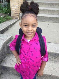 Hair Bun For Kids Children 60 Ideas Natural Hairstyles For Kids, Little Girl Hairstyles, Bun Hairstyles, Natural Hair Styles, Beautiful Black Babies, Beautiful Children, Cute Kids, Cute Babies, Precious Children