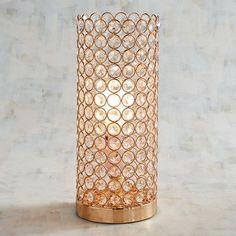 Golden Crystal Beaded Uplight