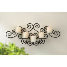 Candle wall sconces wrought iron - There are so many types of wrought iron candle holders out there, it will be easy to use one or more to add a touch of Wrought Iron Candle Holders, Wall Candle Holders, Indoor Wall Sconces, Candle Wall Sconces, Wall Mirrors, Wrought Iron Decor, Vintage Wall Sconces, Matte Black, Wall Decor