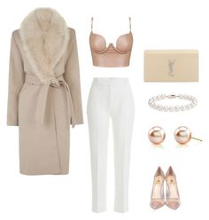 """""""Baby, It's Cold Outside"""" by thefazhionenthusiast on Polyvore featuring Warehouse, 3.1 Phillip Lim, Semilla, Yves Saint Laurent, Blue Nile, women's clothing, women, female, woman and misses"""