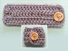 tripleloopscarf-wrapperpiece to hold your scarf together!...free pattern!...this would also make a nice cuff bracelet.
