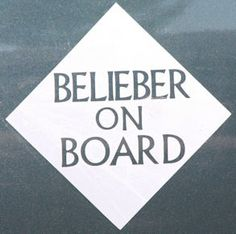 Justin Bieber car sticker -- need this for Riley @Margaret Jacobsen??