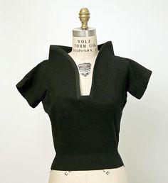 Pullover sweater Elsa Schiaparelli Date: 1950s