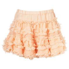 Fluffy ruffle skirt