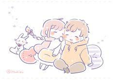 Cute Doodle Art, Cute Doodles, Cute Art, Anime Couples Manga, Cute Anime Couples, Cute Little Drawings, Cute Drawings, Cute Anime Chibi, Kawaii Anime