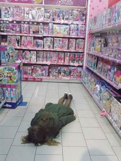 barbie, floor, funny, girl, pink, shop, toys, woman