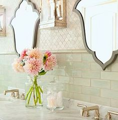 Love this tile design and bathroom