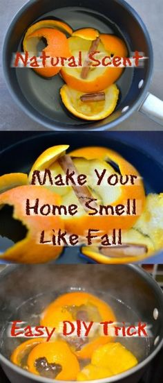 Easy DIY life hack To Make Your Home Smell Like Fall. #DIY #naturalscents #natural #home #fall