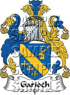 Garioch Family Crest apparel, Garioch Coat of Arms gifts
