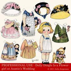 Julie J's Dolly Dingle Flowergirl  @scrapbookelements.com