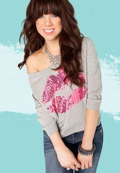 Another pic of Carly, I love her sweatshirt in this picture!