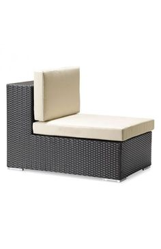 Cartagena Chair Espresso - 703656Description :Boxy lines offset by light cushions lend a chic ambiance to an outdoor party or a solitary sunset. The weather-resistant Cartagena series features a sectional, loveseat, armchair and coffee table. Sold separately.Features :Color :EspressoProduct Cover (Upholstery Material or Type of Metal :Synthetic WeaveProduct Finish (Structure Materiel or Type of Wood) :Aluminum FrameDimensions :Chair:23.5