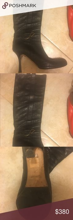 🔥🔥🔥hot deal boots!!!! 24 hr sale 🔥🔥🔥 Absolutely amazing Dior boots. Very good condition don't get much use for them. Leather is very soft. You can wear them over the knee as they go or you can put them down. They are just stunning. Bought them in Dior store in bal harbor. One of the heels has a little scratch however it's very easily fixable. I put sole protectors on. Please see pics. I do not have the box. The boots are just gorgeous. Pull on. Great buy. Price firm or will keep! Dior…