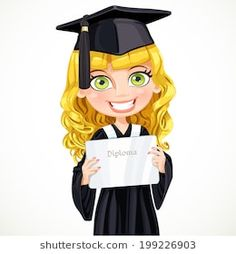 Pretty girl in cap and gown graduate holding a diploma Graduation Cap Images, Graduation Clip Art, Girl Cap, Cap And Gown, Pretty Girls, Aurora Sleeping Beauty, Gowns, Drawings, Wallpaper