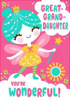 Medium Hallmark Happy Birthday Daughter Fun Fairy Game Girl Card