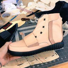 Behind The Scenes By jbfcustoms Fashion Sewing, Custom Sneakers, Yeezy Boost, Behind The Scenes, High Top Sneakers, Vans, Adidas, Pattern, Leather