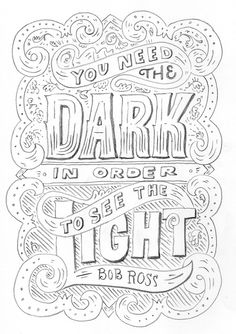 Bob Ross quote on Behance