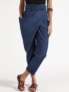 Trouser Pants, Trousers Women, Pants For Women, Harem Pants Outfit, Palazzo Trousers, Harem Pants Style, Casual Belt, Casual Pants, Women's Casual