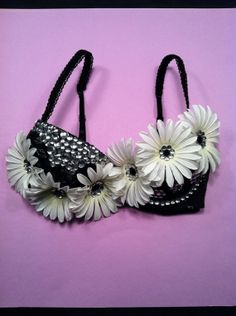 Black lace rhinestone and daisy EDC rave hippie by 2girls2Tus, $49.49