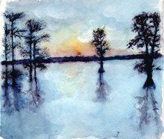 Lake Watercolor by HHarleman.deviantart.com on @deviantART
