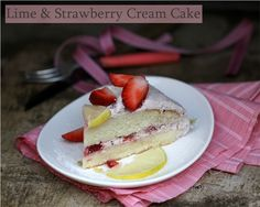 Lime & Strawberry Cream Cake