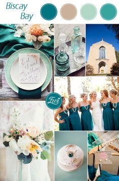 2015 trending rustic teal fall wedding color ideas inspired by pantone basic bay #fallweddingcolors