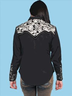 Scully Retro Cowgirl Embroidered Western Shirt