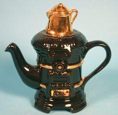 Antique Stove.Teapot
