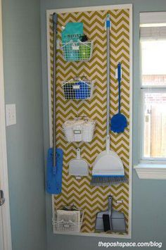 Paint peg board to make more interesting for space