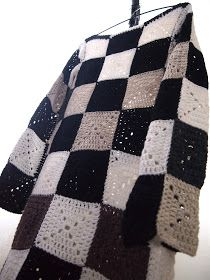 crochet granny squares checkered dress