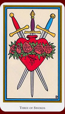 Three of Swords - Tarot of the Saints