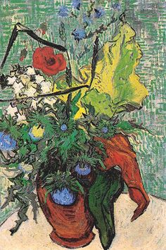 "Vincent van Gogh, ""Wild Flowers and Thistles in a Vase"", oil on canvas,   66.0 x 45.0 cm, June, 1890. Private collection   (in 1976: Collection Meyer, New York)."