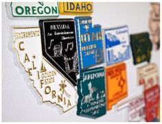 state magnet collection -- great way to showcase your travels