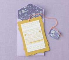 Tea Party: The Invitation | Charming Ideas for a Modern Tea Party Bridal Shower | Real Simple