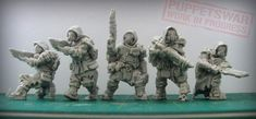 Stalkers are on the way! How do you like them and what next troopes styles you want us to work on?  #stalkers #puppetswar #scifi #sf #hobby #miniatures #wargames #figures #scale #28mm #apocalypse #postapo