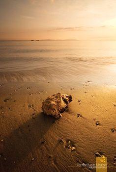 Sunrise along Mindoro beach, Philippines