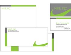 A sample of sample Nike Stationary - (not real) but it's an example of how they…