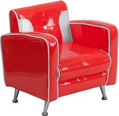 Flash Furniture  Kids Lounge Seating Button Back Retro Chair