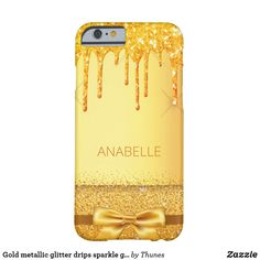 Shop Gold metallic glitter drips sparkle golden name Case-Mate iPhone case created by Thunes. Iphone Case Covers, Iphone 8, Create Your Own, Christmas Gifts, Metallic, Sparkle, Glitter, Gift Ideas, 6 Case