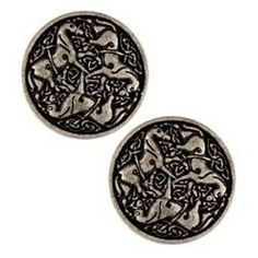 Set of 2 Celtic Horse Epona Silver Shank by CamelotCreationscom, $3.50
