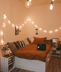 Room Decor Bedroom Cozy + Room Decor Bedroom – Five in Three Small Room Bedroom, Room Ideas Bedroom, Bedroom Goals, Bedroom Inspo, Modern Bedroom, Bedroom Furniture, Decor Room, Bedroom Inspiration, Bedroom Ideas For Small Rooms Cozy