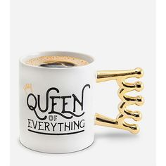 Bigmouth Inc. Queen Of Everything Coffee Mug (€11) ❤ liked on Polyvore featuring home, kitchen & dining, drinkware and bigmouth