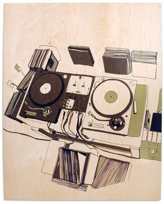 Turntable Illustration