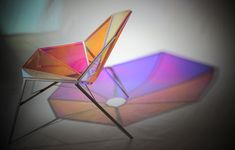 Chairs Design of Brilliant-Shaped and Colorful Transparent