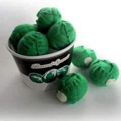Felt Food Brussels Sprouts 3 Childrens Pretend Play by YummyFelts